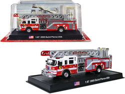 "2005 Pierce Velocity 75' Quint Aerial and Pump Fire Engine ""Bohemia Fire Dept."" (Bohemia, New York) 1/87 (HO) Scale Diecast Model by Amercom"