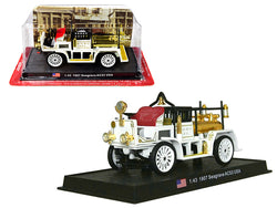 "1907 Seagrave AC53 Fire Engine Truck ""Los Angeles Fire Department"" (L.A.F.D.) 1/43 Diecast Model by Amercom"