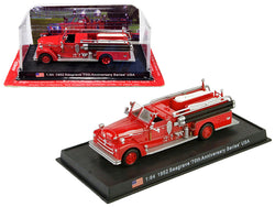 "1952 Seagrave Fire Engine ""70th Anniversary Series"" (Vandergrift, Pennsylvania) 1/64 Diecast Model by Amercom"