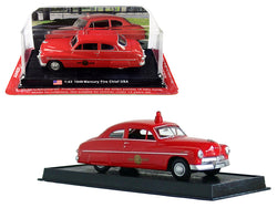 "1949 Mercury Coupe ""Fire Chief"" 1/43 Diecast Model Car by Amercom"