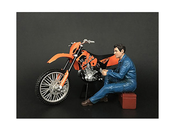 Mechanic Michael Figure for 1/12 Scale Motorcycle Models by American Diorama