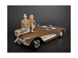 Seated Couple Release #3 (2 Piece Figure Set) for 1/24 Scale Models by American Diorama