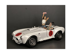 Seated Couple Release #4 (2 Piece Figure Set) for 1/24 Scale Models by American Diorama