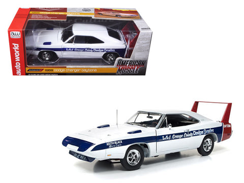 1969 Dodge Daytona LA and Orange County Dodge Dealers Limited Edition to 1002pcs 1/18 Diecast Model Car by Autoworld
