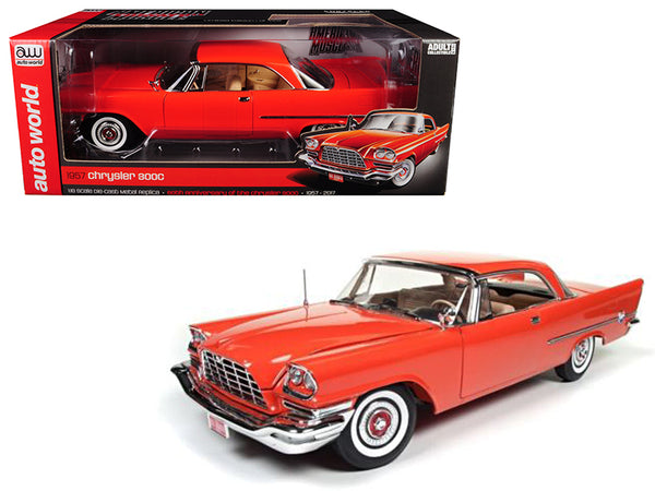 1957 Chrysler 300C Hemi Gauguin Red 60th Anniversary Limited Edition to 1002pcs 1/18 Diecast Model Car by Autoworld