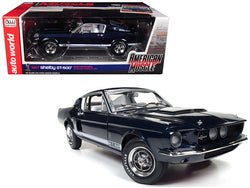 "1967 Ford Shelby Mustang GT 500 2+2 Nightmist Blue Metallic Hemmings Muscle Machines and ""50th Shelby Anniversary"" Limited Edition to 1002pc 1/18 Diecast Model Car by Autoworld"