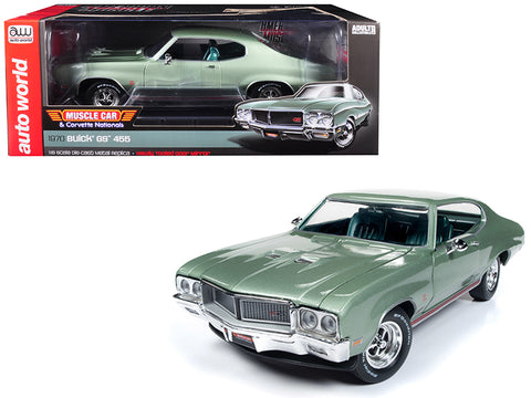 "1970 Buick Grand Sport GS 455 Hardtop ""MCACN"" ""Muscle Car and Corvette Nationals"" Seamist Green Limited Edition to 1002 pieces Worldwide 1/18 Diecast Model Car by Autoworld"