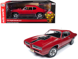 "1968 Pontiac Royal Bobcat GTO ""Class of '68"" 50th Anniversary Code R Solar Red Limited Edition to 1002 pieces Worldwide 1/18 Diecast Model Car by Autoworld"