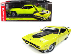 "1971 Plymouth Road Runner 440+6 Hardtop ""Looney Tunes"" 50th Anniversary of the Plymouth Road Runner (1968-2018) CY3 Citron Yellow Limited Edition to 1002 pieces Worldwide 1/18 Diecast Model Car by Autoworld"