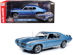 "1969 Pontiac GTO Judge Warwick Blue ""MCACN"" 10th Anniversary Limited Edition to 1002 pieces Worldwide 1/18 Diecast Model Car by Autoworld"