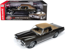 "1969 Pontiac Grand Prix SJ Expresso Brown Metallic with Dark Brown Top ""MCACN"" 10th Anniversary (Muscle Car & Corvette Nationals) Limited Edition to 1002 pieces Worldwide 1/18 Diecast Model Car by Autoworld"