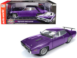 "1971 Plymouth Road Runner 440+6 Hardtop In Violet ""Looney Tunes"" ""Muscle Car & Corvette Nationals"" (MCACN) Limited Edition to 1002 pieces Worldwide 1/18 Diecast Model Car by Autoworld"