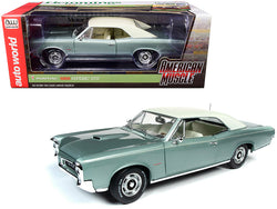 "1966 Pontiac GTO Hardtop Palmetto Green Metallic ""Hemmings Motor News"" Magazine Cover Car (August 2016) 1/18 Diecast Model Car by Autoworld"