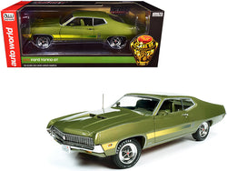"1970 Ford Torino GT Hardtop Medium Ivy Green Metallic with Green Interior ""Class of 1970"" 1/18 Diecast Model Car by Autoworld"