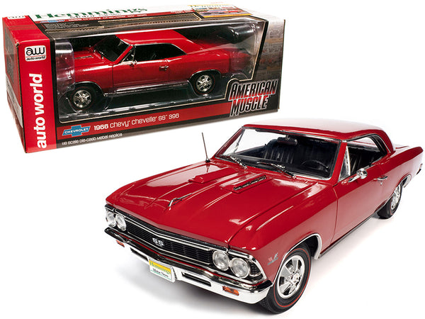 "1966 Chevrolet Chevelle SS 396 Hardtop Regal Red ""Hemmings Motor News"" Magazine Cover Car (April 2013) 1/18 Diecast Model Car by Autoworld"