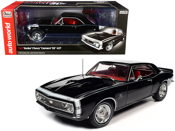 "1967 Chevrolet Camaro Yenko SS 427 Hardtop Tuxedo Black with Red Interior ""American Muscle 30th Anniversary"" 1/18 Diecast Model Car by Autoworld"