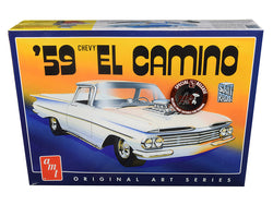 "1959 Chevrolet El Camino 2 in 1 Plastic Model Kit ""Original Art Series"" (Skill Level 2) 1/25 Scale Model by AMT"