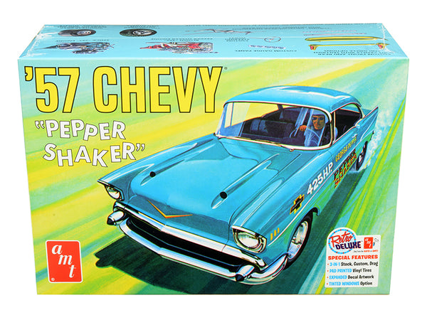 "1957 Chevrolet ""Pepper Shaker"" 3 in 1 Plastic Model Kit (SkillLevel 2) 1/25 Scale Model by AMT"""