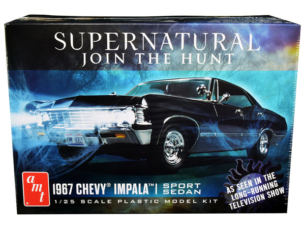 "1967 Chevrolet Impala Sport Sedan ""Supernatural"" (2005) TV Series Plastic Model Kit (Skill Level 2) 1/25 Scale Model by AMT"