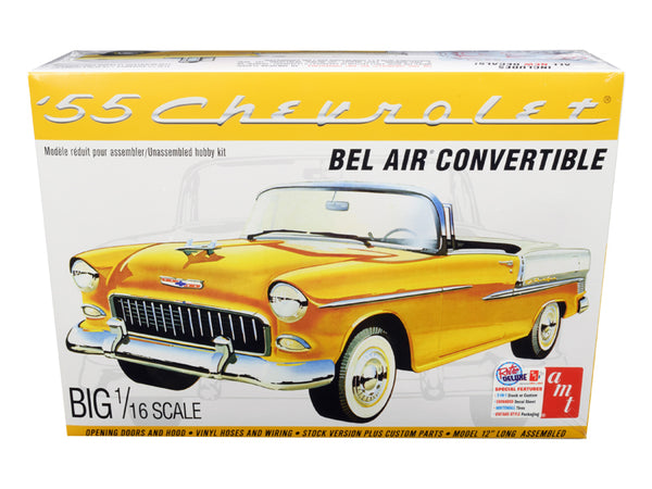 1955 Chevrolet Bel Air Convertible 2 in 1 Plastic Model Kit (Skill Level 3) 1/16 Scale Model by AMT