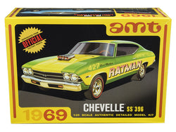 1969 Chevrolet Chevelle SS 396 3 in 1 Plastic Model Kit (Skill Level 2) 1/25 Scale Model by AMT