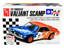 Plymouth Valiant Scamp Kit Car Plastic Model Kit (Skill Level 2) 1/25 Scale Model by AMT