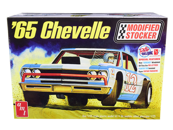 1965 Chevrolet Chevelle Modified Stocker Plastic Model Kit (Skill Level 2) 1/25 Scale Model by AMT