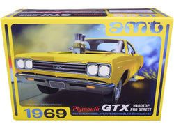 1969 Plymouth GTX Hardtop Pro Street Plastic Model Kit (Skill Level 2) 1/25 Scale Model by AMT