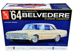 1964 Plymouth Belvedere Coupe Hardtop Plastic Model Kit (Skill Level 2) 1/25 Scale Model by AMT