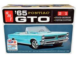 1965 Pontiac GTO 2-in-1 Plastic Model Kit (Skill Level 2) 1/25 Scale Model by AMT