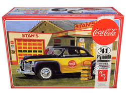 "1941 Plymouth Coupe with 4 Bottle Crates ""Coca-Cola"" Plastic Model Kit (Skill Level 3) 1/25 Scale Model by AMT"