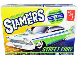 "1958 Plymouth Street Fury ""Slammers"" Plastic model Kit (Skill Level 1) 1/25 Scale Model by AMT"