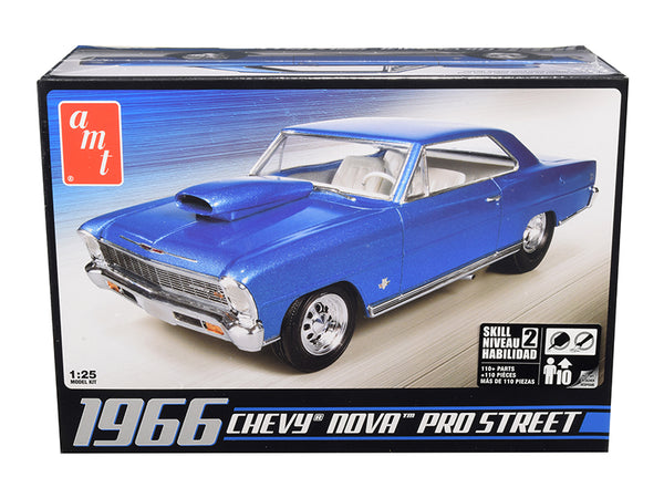 1966 Chevrolet Nova Pro Street Plastic Model Kit (Skill Level 2) 1/25 Scale Model by AMT