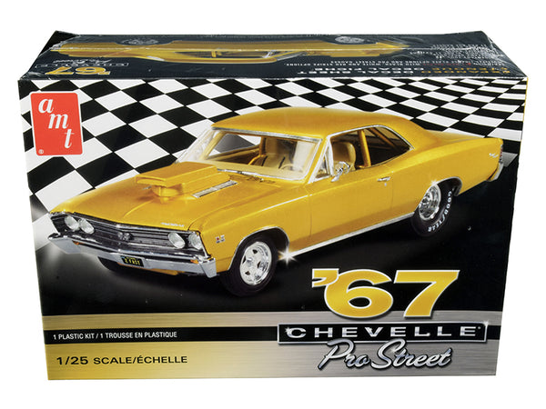 1967 Chevrolet Chevelle Pro Street Plastic Model Kit (Skill Level 2) 1/25 Scale Model by AMT