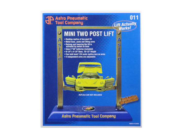 Mini Two Post Electric Metal Lift For 1/24 and 1/18 Diecast Models by APTC