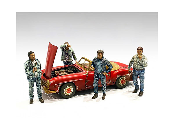 """Auto Mechanics"" (4 Piece Figure Set) for 1/24 Scale Models by American Diorama"