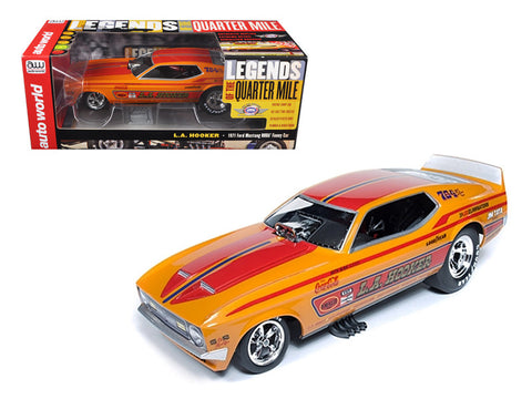 "1971 Ford Mustang Steve Condit ""LA Hooker"" NHRA Funny Car 1/18 Model Car by Autoworld"