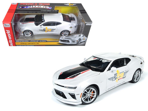 "2017 Chevrolet Camaro SS Indy Pace Car ""50th Anniversary"" Limited Edition to 1002pcs 1/18 Diecast Model Car by Autoworld"