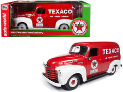 "1948 Chevrolet Panel Delivery Truck ""Texaco"" Red Limited Edition to 1002 pieces Worldwide 1/18 Diecast Model Car by Autoworld"