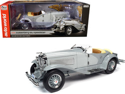 1935 Duesenberg SSJ Straight-8 Speedster Light Gray and Dark Gray 1/18 Diecast Model Car by Autoworld