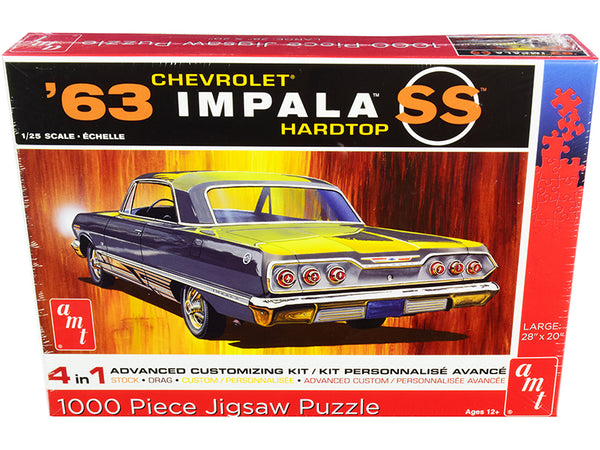 1963 Chevrolet Impala SS Hardtop 1,000 Piece Jigsaw Puzzle by AMT