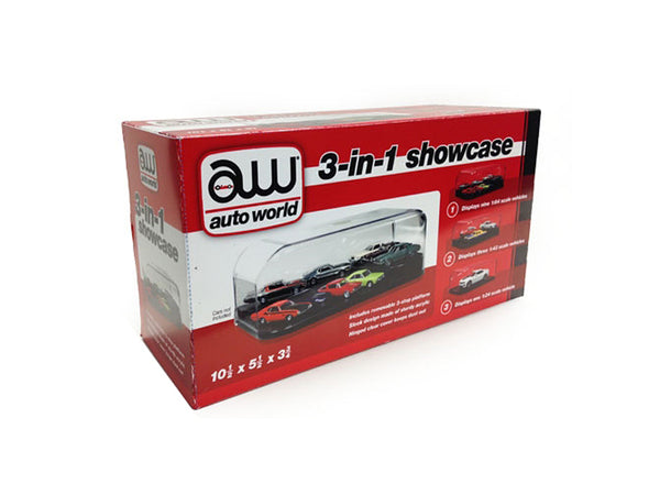 Collectible Display Show Case for 1/64-1/43-1/24 Diecast Models by Autoworld