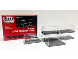 6 Pack Collectible Display Cases for 1/64 Scale Diecast Models by Autoworld