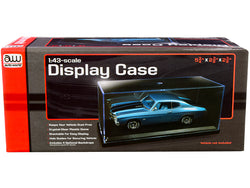 Acrylic Display Show Case with Black Plastic Base and 4 Display Backdrops for 1/43 Scale Model Cars by Autoworld