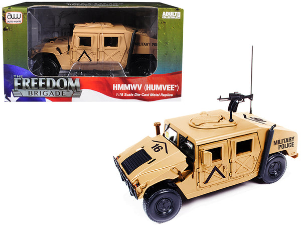 HMMWV MP (Humvee) Desert Tan 1/18 Diecast Model by Autoworld