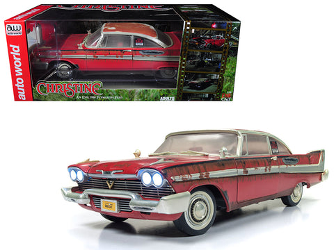 "1958 Plymouth Fury ""Christine"" Dirty Rusted Version 1/18 Diecast Model Car by Autoworld"