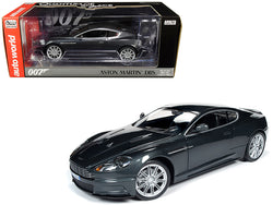 "Aston Martin DBS Quantum Silver/Dark Gray Metallic (James Bond 007) ""Quantum of Solace"" (2008) Movie 1/18 Diecast Model Car by Autoworld"