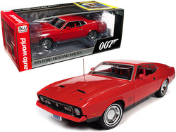 "1971 Ford Mustang Mach 1 Bright Red with Red Interior (James Bond 007) ""Diamonds are Forever"" (1971) Movie 1/18 Diecast Model Car by Autoworld"