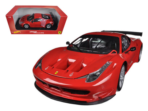 Ferrari 458 Italia GT2 Rosso Corsa Red 1/18 Diecast Model Car by Hotwheels