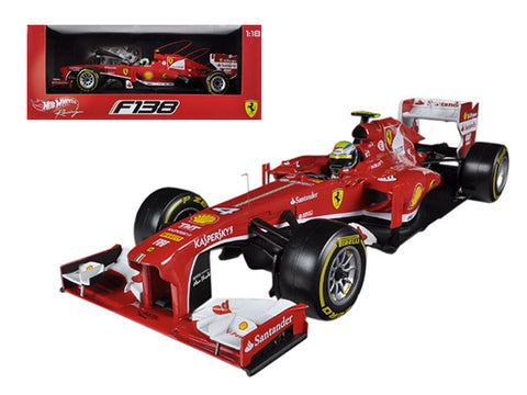 Ferrari F2013 F138 Felipe Massa Formula 1 2013 F1 1/18 Diecast Model Car by Hotwheels